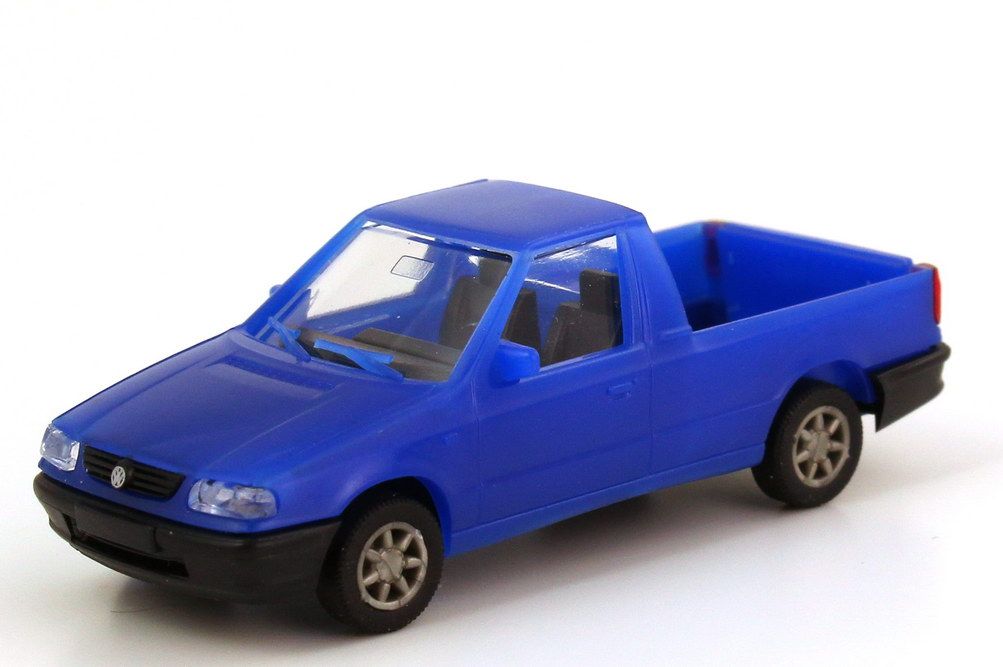 Foto 1:87 VW Caddy II Pickup (Typ 9U) blau CS-Train 97405