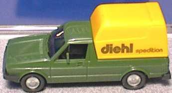Foto 1:87 VW Caddy I Kasten Diehl Spedition Wiking 047