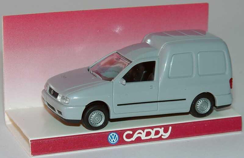 Foto 1:87 VW Caddy Kasten hellgrau Werbemodell Rietze 95101