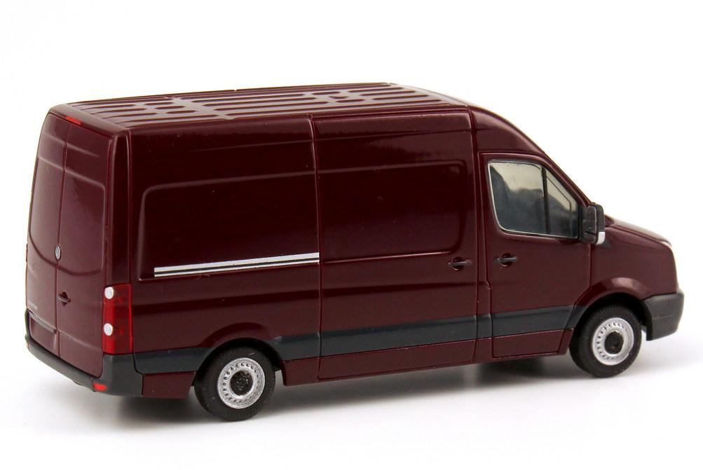 Foto 1:87 VW Crafter  2011 Kasten Hochdach spanisch-rot Werbemodell Rietze 2E10993014CC