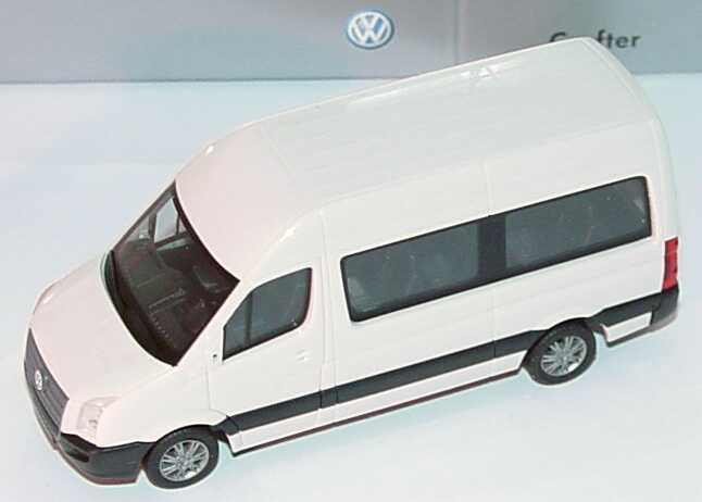 Foto 1:87 VW Crafter Bus Hochdach grauweiß Werbemodell herpa 2E0099301903
