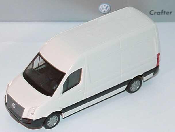 Foto 1:87 VW Crafter Kasten Hochdach grauweiß - Werbemodell - herpa 2E9099301903