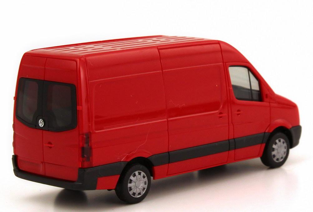 Foto 1:87 VW Crafter Kasten Hochdach rot herpa 049955