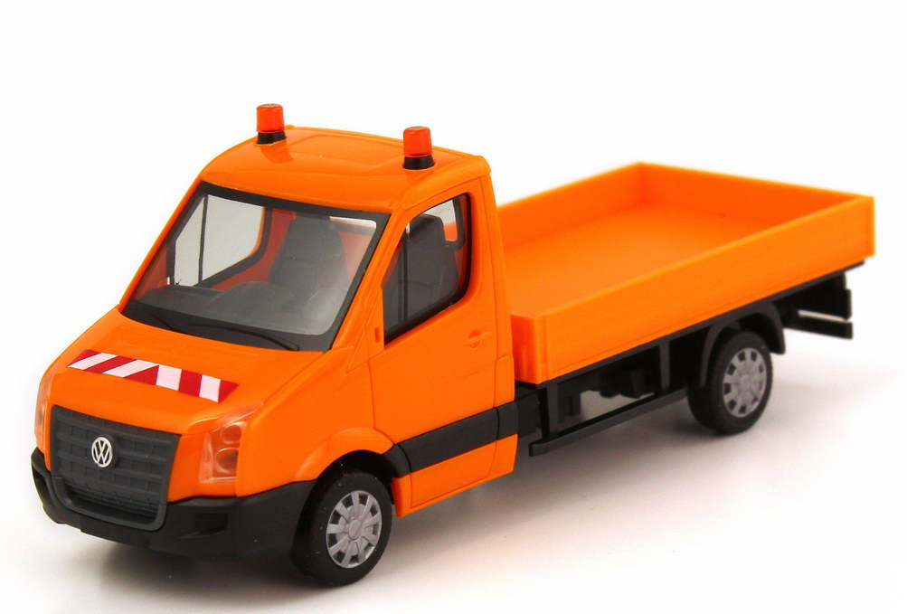 Foto 1:87 VW Crafter Pritsche orange Kommunal herpa 047227