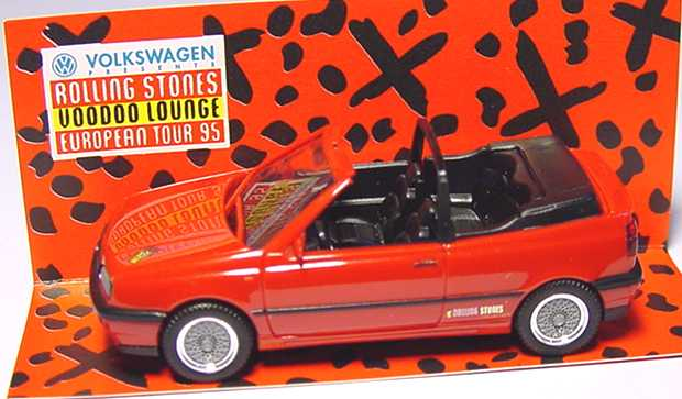 Foto 1:87 VW Golf III Cabrio rot Rolling Stones Voodoo Lounge herpa