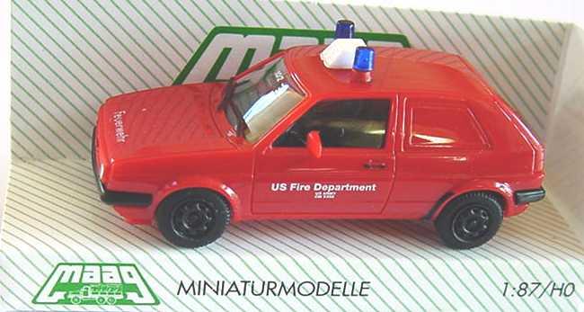 Foto 1:87 VW Golf II 2türig Lieferwagen Feuerwehr/U.S. Fire Department, US-Army Maag 700160