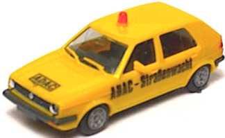 Foto 1:87 VW Golf II 4türig ADAC-Straßenwacht (bemalt) herpa 4087