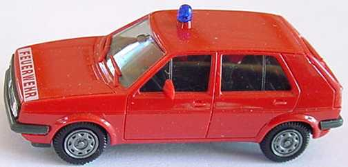 Foto 1:87 VW Golf II 4türig Feuerwehr herpa