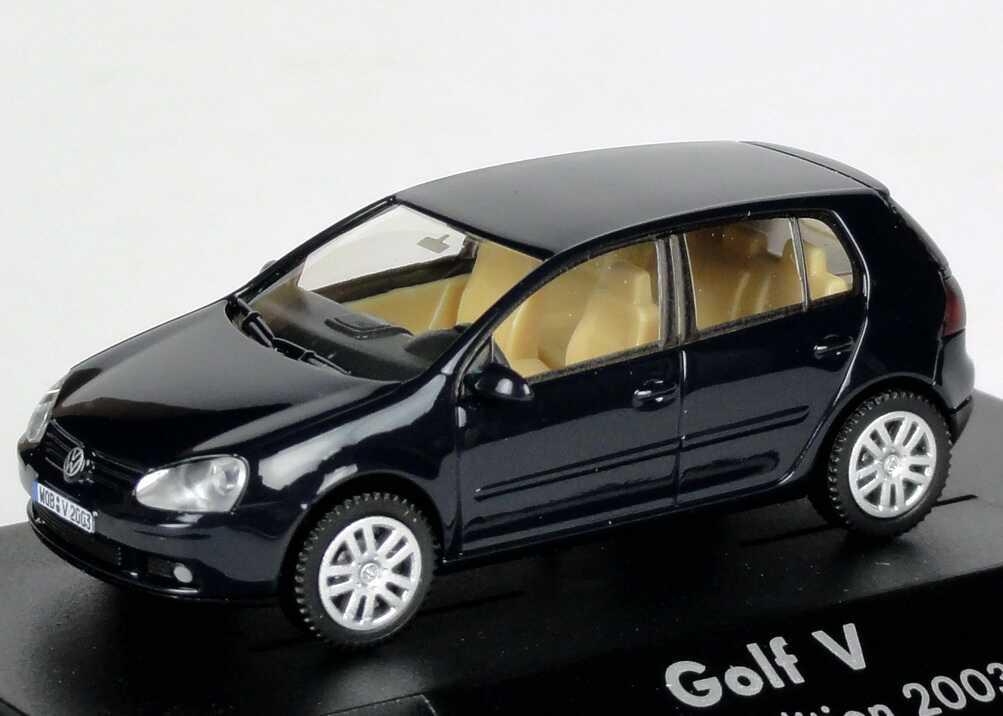 1 87 vw golf v tdi 4t rig perlblau sonderedition 2003 dealer edition wiking ebay. Black Bedroom Furniture Sets. Home Design Ideas