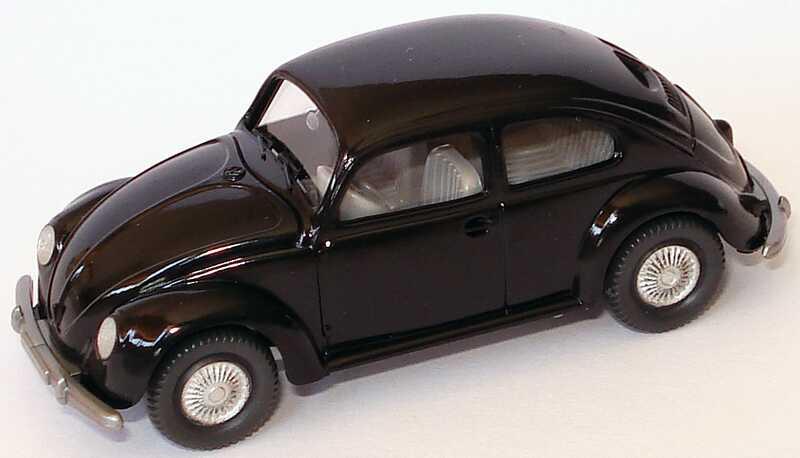 Foto 1:87 VW 1200 Käfer Brezelfenster schwarz Wiking 830