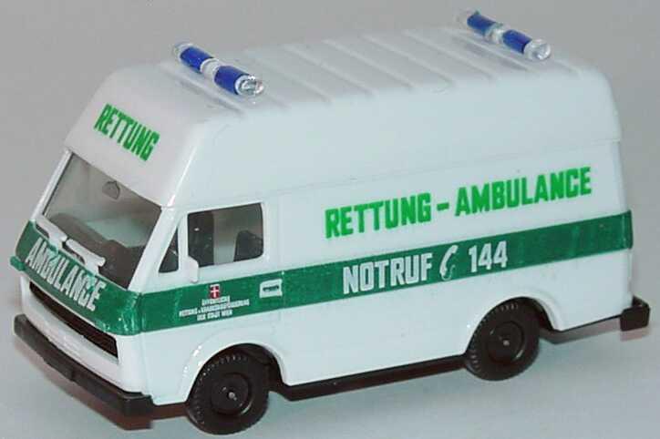 Foto 1:87 VW LT 28  Hochdach Rettung - Ambulance herpa