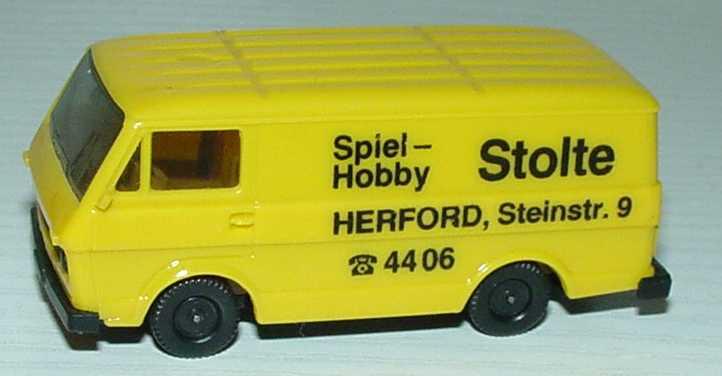 Foto 1:87 VW LT 28 Kasten Spiel-Hobby Stolte, Herford herpa