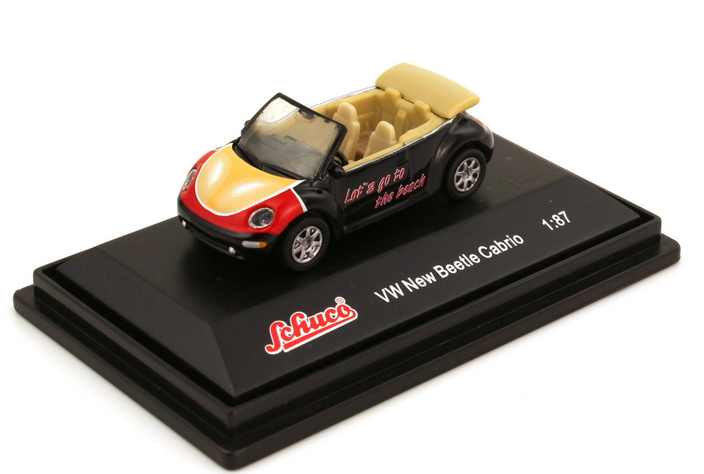 Foto 1:87 VW New Beetle Cabrio Lets go to the beach - Schuco 25078