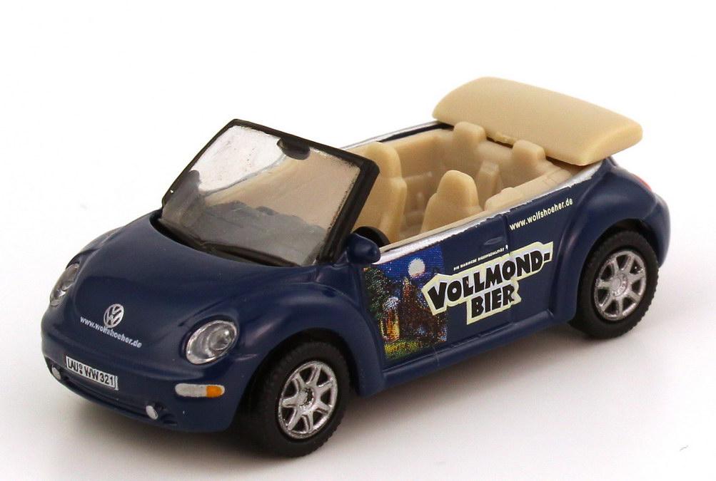 Foto 1:87 VW New Beetle Cabrio Wolfshöher Vollmond Bier - Schuco 25013