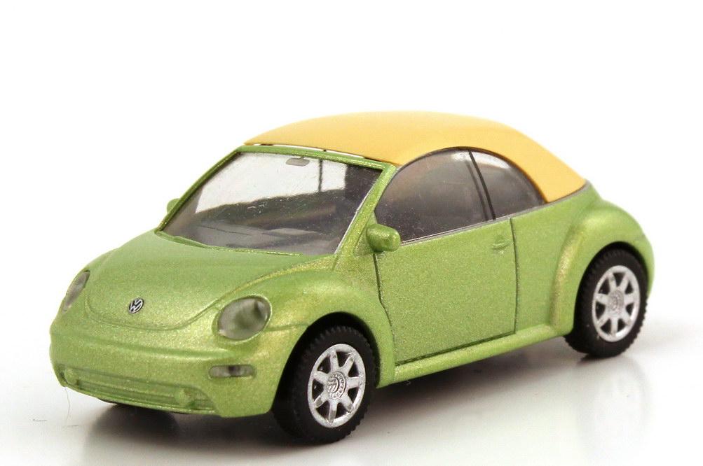 Foto 1:87 VW New Beetle Cabrio cybergreen-met., geschlossenes Verdeck Wiking