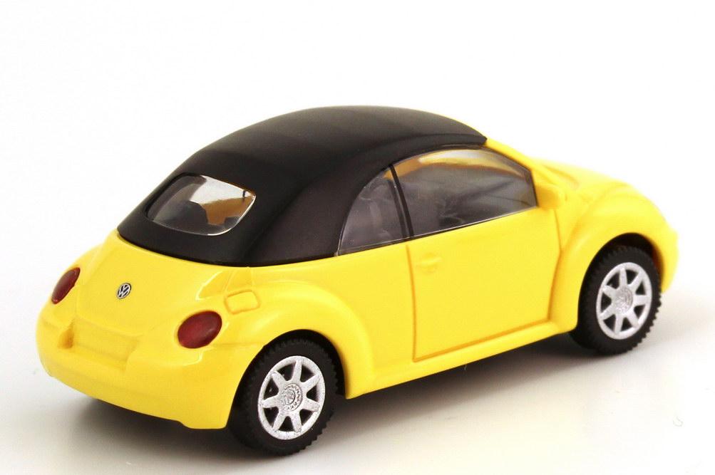Foto 1:87 VW New Beetle Cabrio gelb, geschlossenes Verdeck Wiking 03240