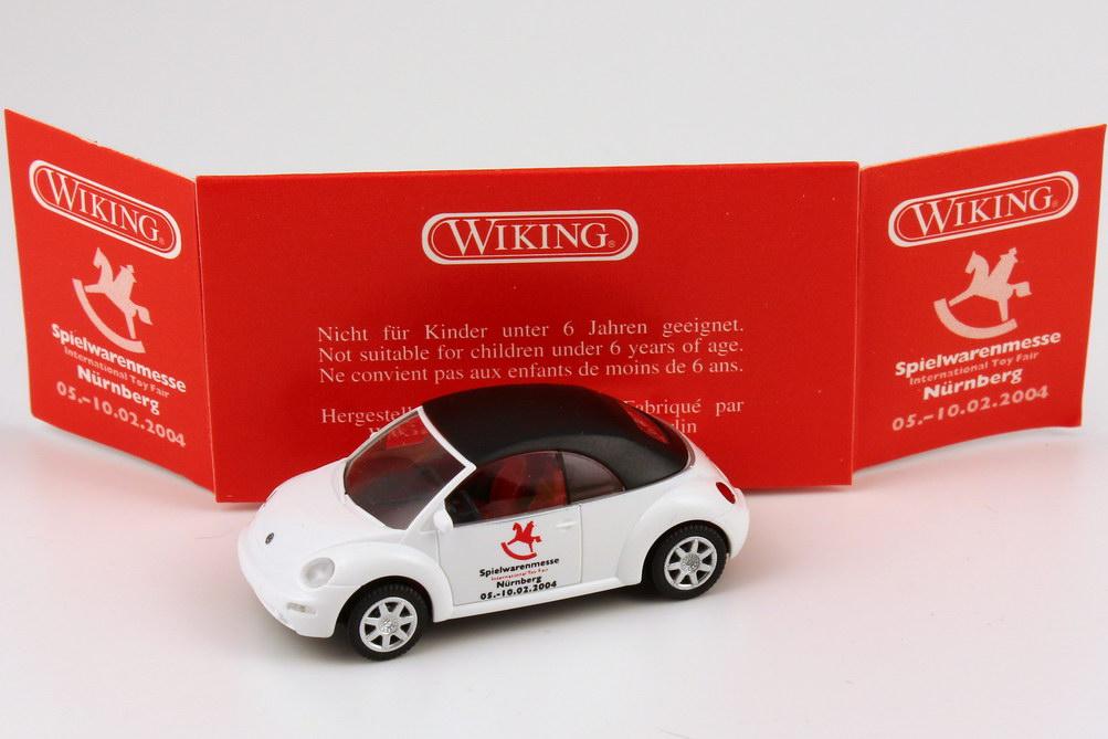 Foto 1:87 VW New Beetle Cabrio geschlossen Spielwarenmesse / Internation Toy Fair 2004 Wiking