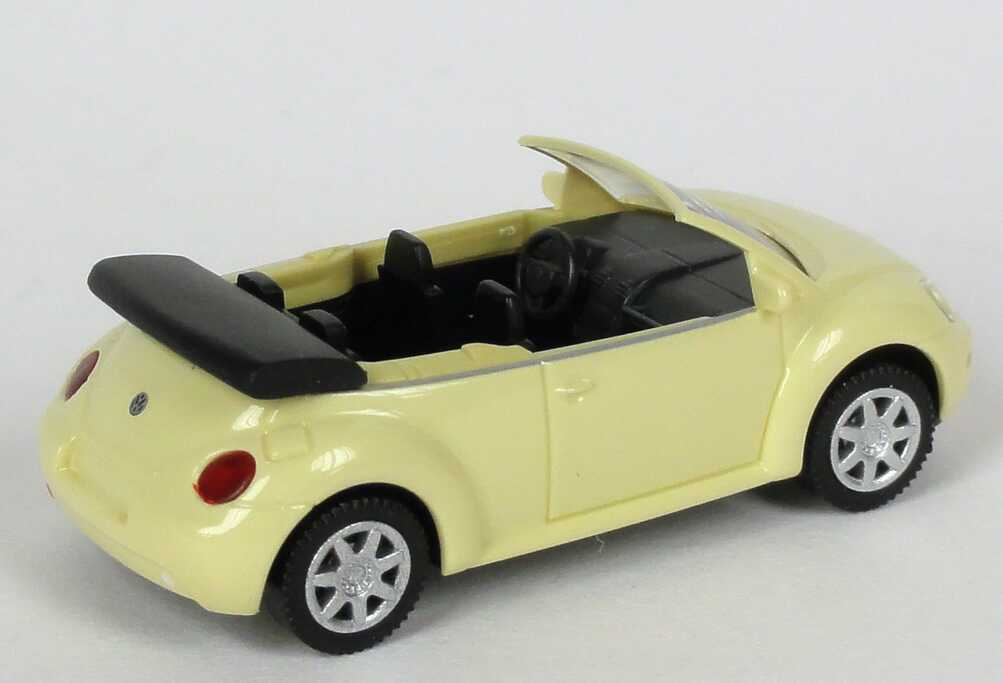 Foto 1:87 VW New Beetle Cabrio hellgelb Werbemodell Wiking