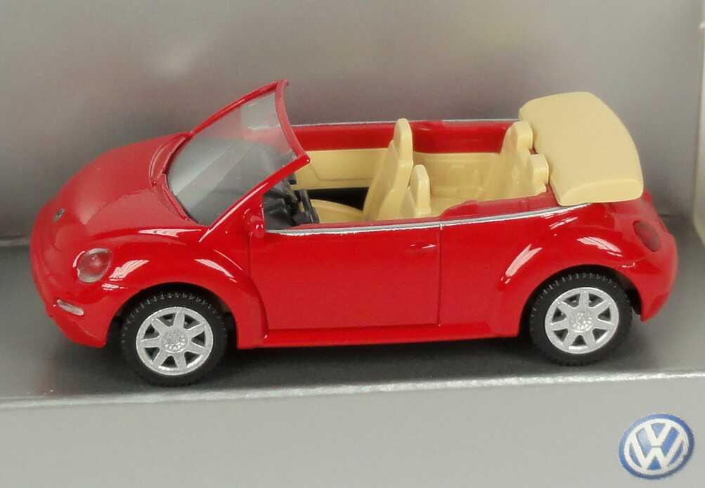 Foto 1:87 VW New Beetle Cabrio rot Werbemodell Wiking 1Y00993013ZR