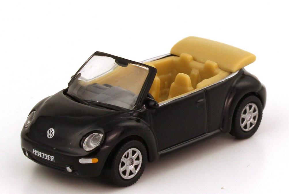 Foto 1:87 VW New Beetle Cabrio schwarz Schuco