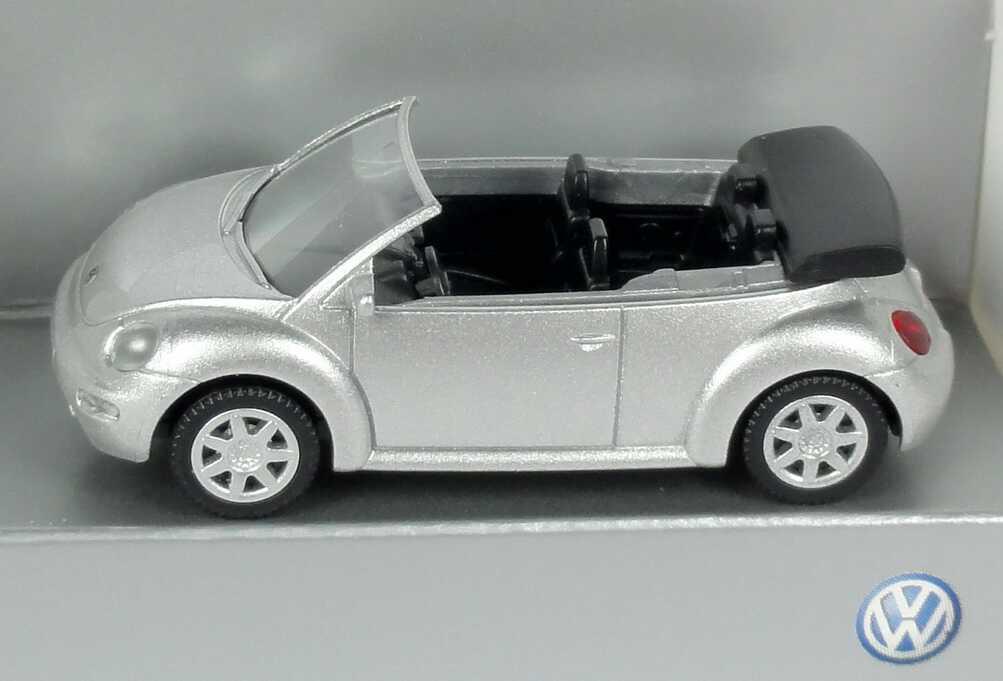 Foto 1:87 VW New Beetle Cabrio silber-met. Werbemodell Wiking 1Y0099301A7W