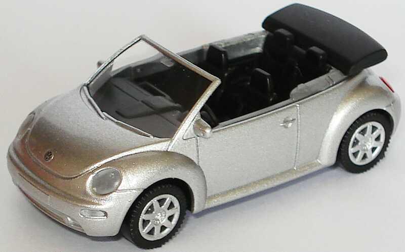 Foto 1:87 VW New Beetle Cabrio silber-met. Wiking 1Y0099301A7W