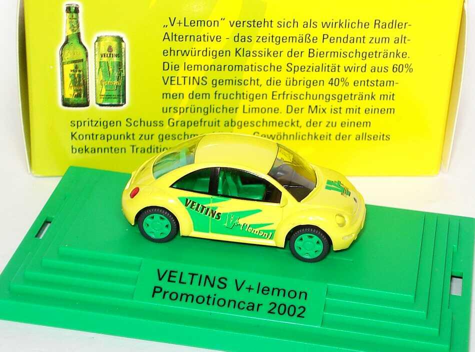 Foto 1:87 VW New Beetle Veltins V+ Lemon Promotioncar 2002 Wiking
