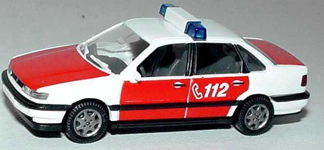 Foto 1:87 VW Passat (Typ B4) Feuerwehr ELW weiß/rot 112 Wiking 60002