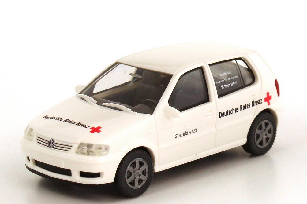 Foto 1:87 VW Polo III Facelift 4türig (Typ 6N2) DRK Mainz Sozialdienst Wiking 03701