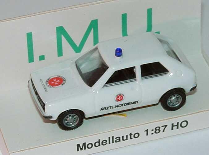 Foto 1:87 VW Polo I Post Johanniter, Ärztl. Notdienst I.M.U.