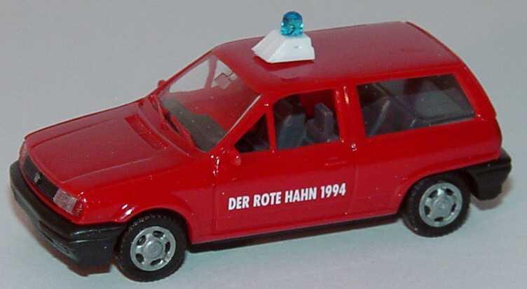 Foto 1:87 VW Polo Steilheck Feuerwehr Der Rote Hahn 1994 AMW/AWM