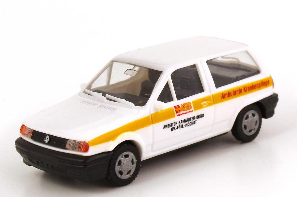 Foto 1:87 VW Polo II Steilheck (Typ 86C) ASB Ortsverband Frankfurt-Höchst AMW/AWM 72028