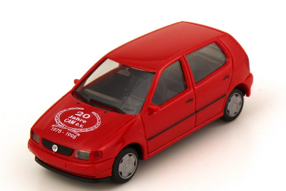 Foto 1:87 VW Polo Typ 6N 4türig rot 20 Jahre CAM e.V. 1975 - 1995 - herpa