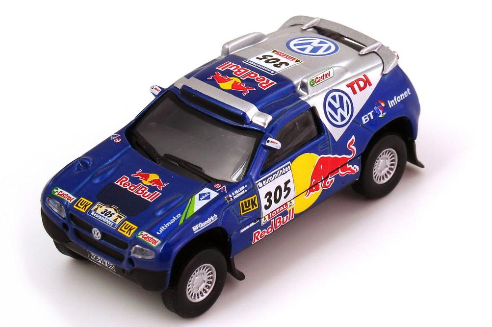 Foto 1:87 VW Race Touareg 2 Rallye Dakar 2006 VW TDI Red Bull Nr.305 de Villiers Thörner - Schuco Aus Set 25301