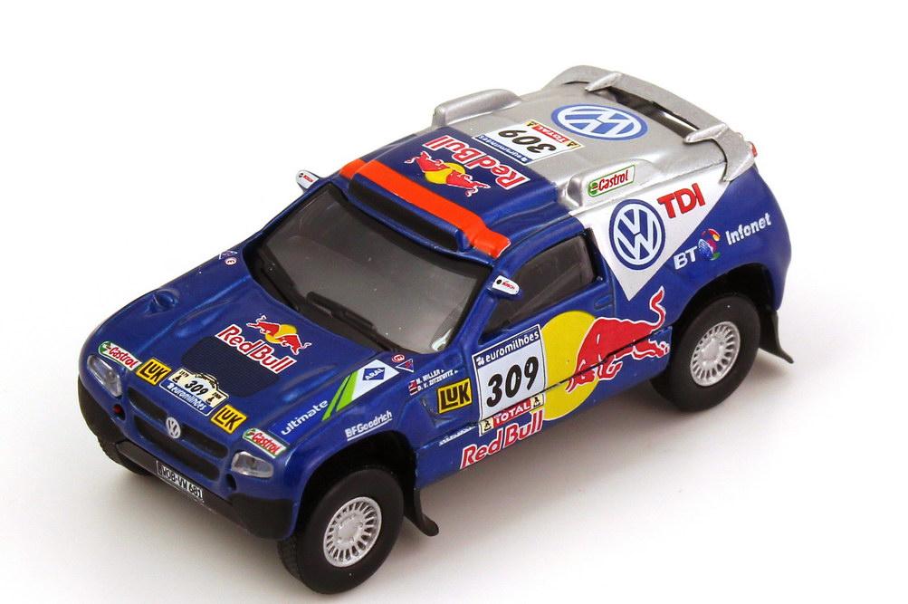Foto 1:87 VW Race Touareg 2 Rallye Dakar 2006 VW TDI, Red Bull Nr.309, Miller / Zitzewitz Schuco AusSet25301
