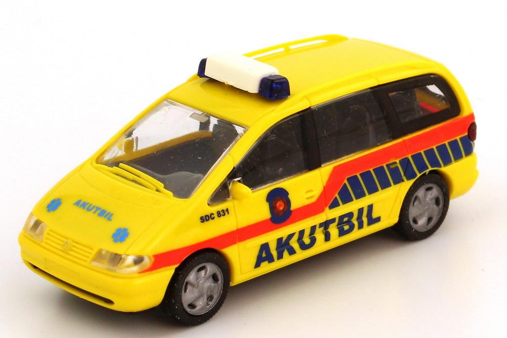 Foto 1:87 VW Sharan Akutbil (Rettungswagen Schweden) Rietze 50756