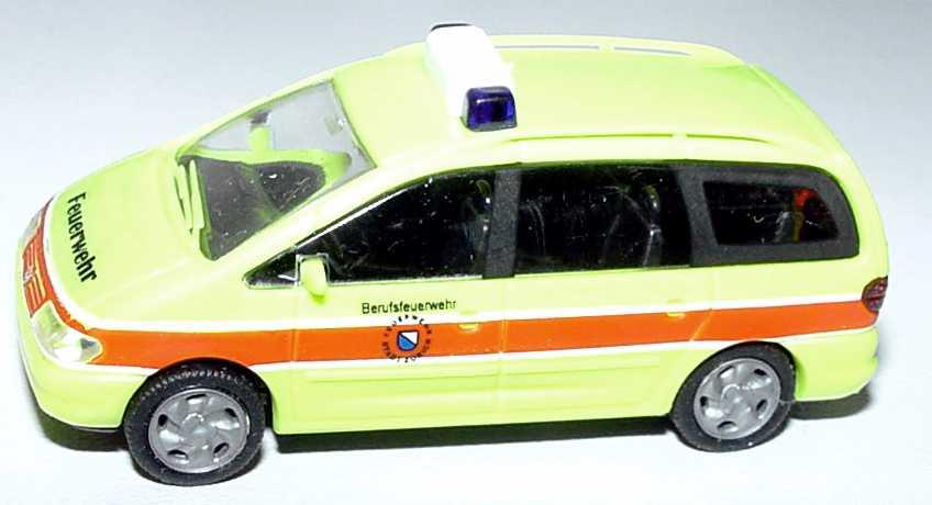 Foto 1:87 VW Sharan Feuerwehr Berufsfeuerwehr Zürich Rietze 50753