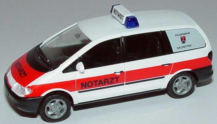 Foto 1:87 VW Sharan Notarzt, Feuerwehr Salzgitter herpa 043168