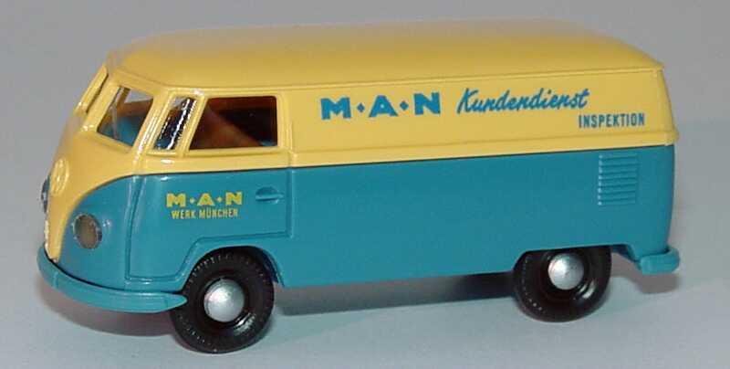 Foto 1:87 VW T1 Kasten MAN Werk München, Kundendienst Brekina 3201