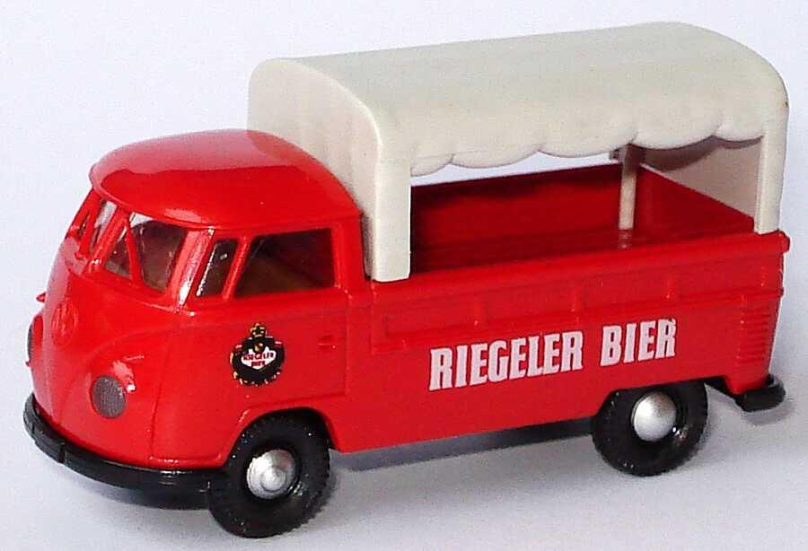 Foto 1:87 VW T1b Pritsche mit Plane Riegeler Bier Brekina 0419