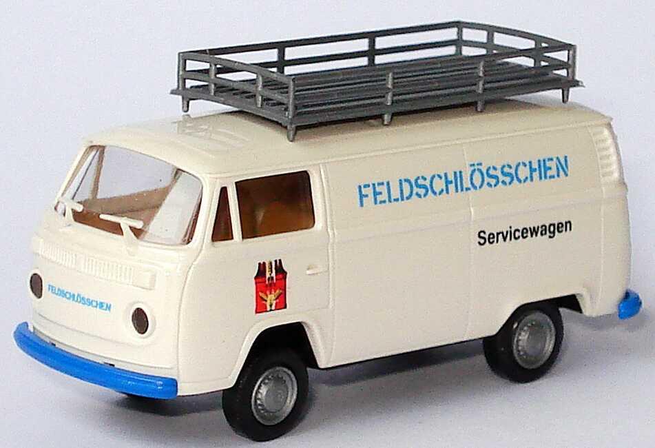 Foto 1:87 VW T2 (T2b) Kasten mit Dachgepäckträger Feldschlösschen Servicewagen Brekina 161