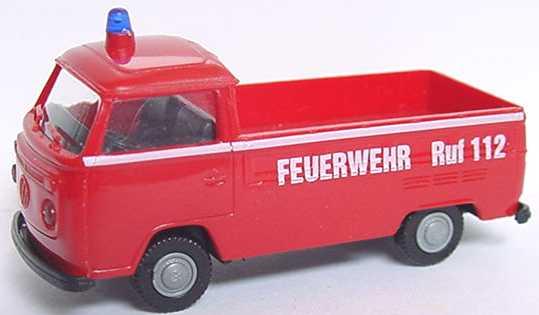 Foto 1:87 VW T2 Pritsche Feuerwehr, Ruf 112 APS Collection 09068