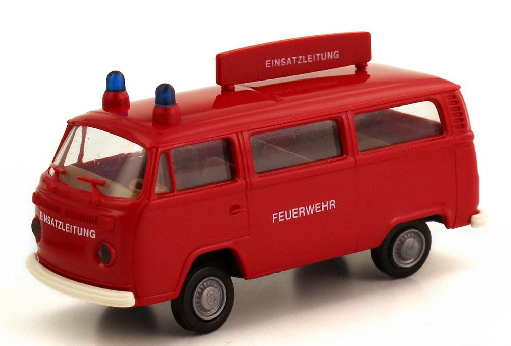 Foto 1:87 VW T2 (T2b) Bus ELW Feuerwehr Einsatzleitung Brekina 33281