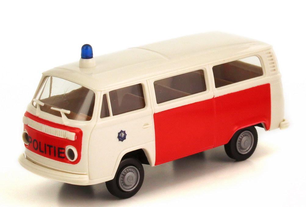 Foto 1:87 VW T2 T2b Bus Politie Polizei Niederlande - Brekina 3309
