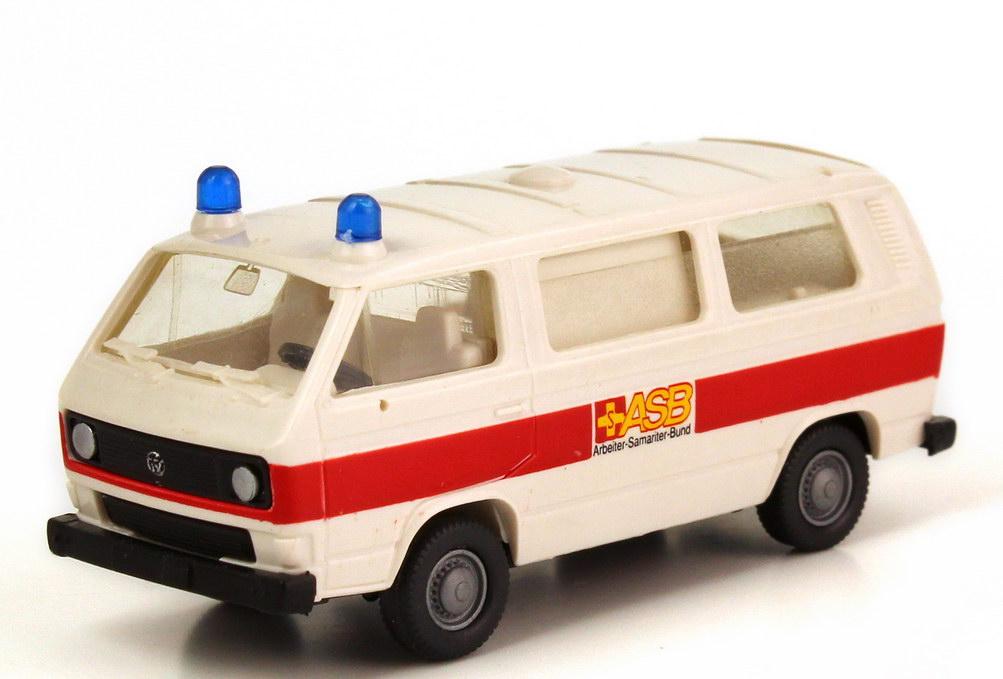 Foto 1:87 VW T3 Bus Rettungswagen ASB Roco AusSet1385