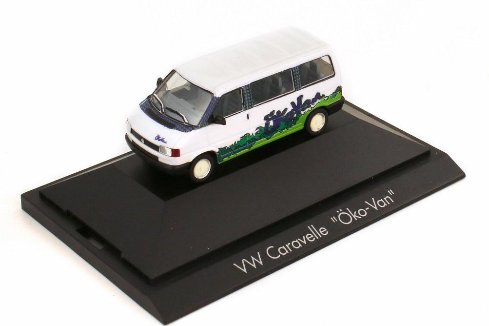 Foto 1:87 VW T4 Bus Caravelle Öko Van - herpa 180818
