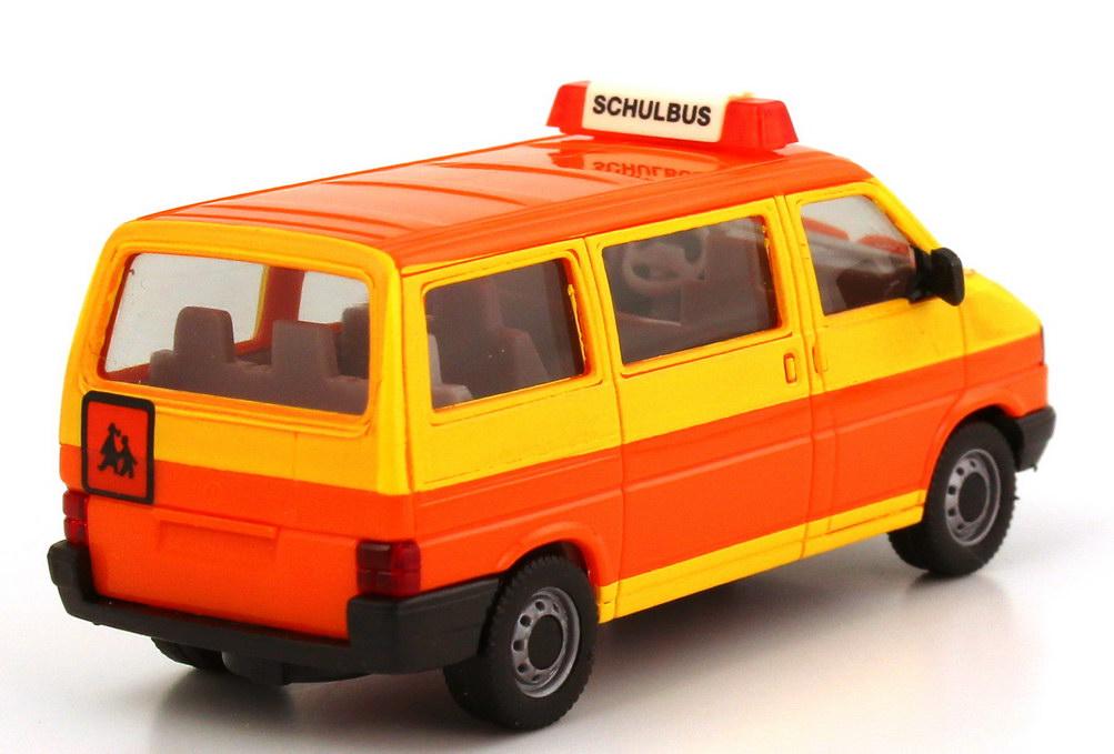 vw t4 caravelle schulbus gelb orange herpa 041652 in der. Black Bedroom Furniture Sets. Home Design Ideas