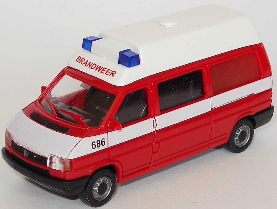 Foto 1:87 VW T4 Bus lang Hochdach Brandweer AMW/AWM