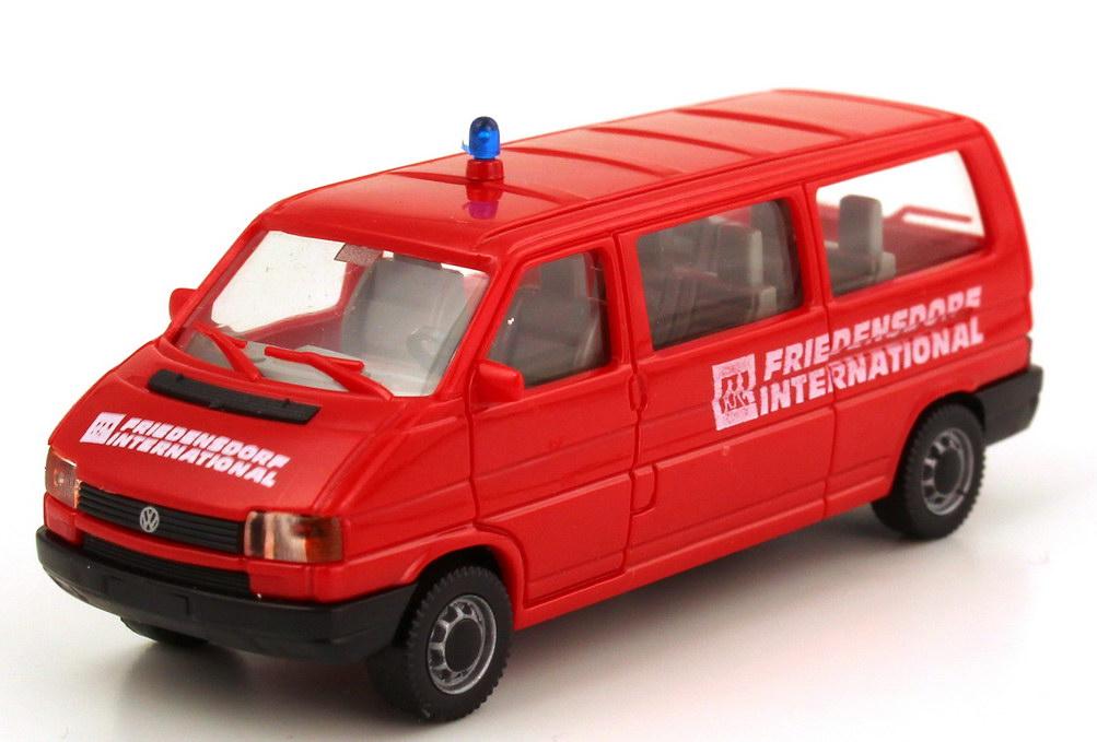 Foto 1:87 VW T4 Bus lang MTW rot Friedensdorf International AMW/AWM 9313