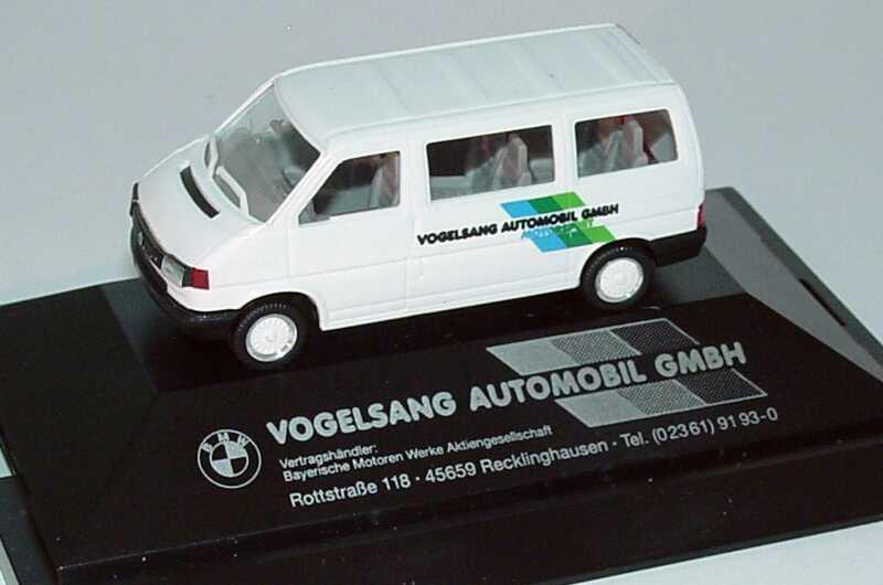 Foto 1:87 VW T4 Caravelle Vogelsang Automobil GmbH Motorsport, BMW Vertragshändler herpa